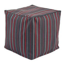 Chooty & Co. - Chooty & Co. Zippered Beads Foot Stool - Multi-Stripe Charcoal Multicolor - BP13 - Shop for Ottoman & Footstools from Hayneedle.com! The Chooty & Co. Zippered Beads Foot Stool Multi-Stripe Charcoal is a comfortable footrest in a thin red and silver stripe pattern that would look great beside your favorite lounger or sofa. The charcoal-colored 100% cotton cover holds quality EPS Styrofoam beads for durability and shape retention.About Chooty & Co.A lifelong dream of running a textile manufacturing business came to life in 2009 for Connie Garrett of Chooty & Co. This achievement was kicked off in September of '09 with the purchase of Blanket Barons well known for their imported soft as mink baby blankets and equally alluring adult coverlets. Chooty's busy manufacturing facility located in Council Bluffs Iowa utilizes a talented team to offer the blankets in many new fashion-forward patterns and solids. They've also added hundreds of Made in the USA textile products including accent pillows table linens shower curtains duvet sets window curtains and pet beds. Chooty & Co. operates on one simple principle: What is best for our customer is also best for our company.