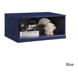 K and B Furniture Co Inc - Open-base Modular Storage Unit - Stackable and easy to use,this open-front storage unit is a fun way to help children stay organized. Crafted with wood for durability,this small storage piece comes in your choice of a painted blue or white finish.