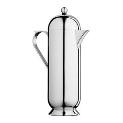 Domus Coffee Pot - Large by Nick Munro - Hand polished stainless steel, French-press capacity, and a gorgeous shape will make you want to use this coffee pot every day, and leave it out on display even when you're not using it. Designed by Nick Munro.