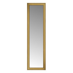 """Posters 2 Prints, LLC - 24"""" x 79"""" Arqadia Gold Traditional Custom Framed Mirror - 24"""" x 79"""" Custom Framed Mirror made by Posters 2 Prints. Standard glass with unrivaled selection of crafted mirror frames.  Protected with category II safety backing to keep glass fragments together should the mirror be accidentally broken.  Safe arrival guaranteed.  Made in the United States of America"""