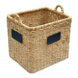 Smith & Hawken Square Basket With Chalkboard - This is one of my favorites from Smith and Hawken. I love the market feel and would use several for kitchen and bathroom storage. It's a great product and is very budget friendly for the consumer.