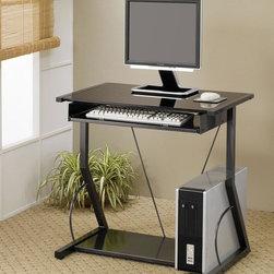 Coaster - Black Transitional Desk - Computer desk in black.