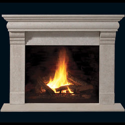 Franklin Stone Fireplace Mantel - Sleek and contemporary, the Franklin Stone Fireplace Mantel would look great in any home. With a honed or polished finish and choice in sizes, it's the perfect addition to your living room.