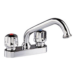 American Standard - Cadet Two Handle Laundry Faucet in Polished Chrome - American Standard 7573.140.002 Cadet Two Handle Laundry Faucet in Polished Chrome. The stylish, functional American Standard Cadet 2-Handle Laundry Faucet in Chrome with Hose End is built to help you tackle common laundry tasks. With its pair of metal knob handles and brass swivel spout, this faucet is designed for ease of use, and its 2.2 GPM flow rate provides fast filling performance.American Standard 7573.140.002 Cadet Two Handle Laundry Faucet in Polished Chrome, Features:Solid-brass construction is suitable for prolonged contact with water