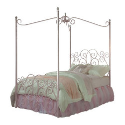 Standard Furniture - Standard Furniture Princess Canopy Bed in Pink Metal - Full - Canopy bed in Pink Metal belongs to Princess collection by Standard Furniture. Every little girl will be a princess with our frilly metal canopy Princess bed as the focal point of her bedroom.