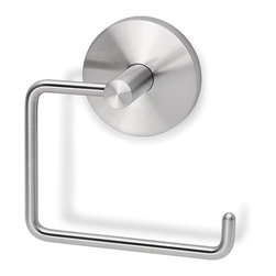 Blomus 68397 Primo Wall-mounted Toilet Roll Holder - Blomus Primo Wall-mounted Toilet Roll Holder (model 68397) is a necessity for any modern bathroom. Stylish and durable as it's made of stainless steel, this charming toilet paper holder comes with a mounting kit. To get the look of fully completed bathroom you can add the entire collection of bathroom accessories to your Blomus Primo Wall-mounted Toilet Roll Holder. See for yourself!