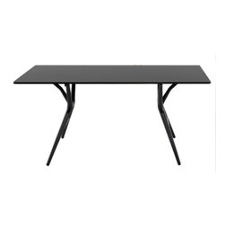 Kartell - Spoon Table, 64 in., Black - Now you see it, now you don't. This folding table is great at disappearing acts — it folds up in an instant so you can store it easily when not in use. Extremely lightweight, the aluminum top is joined by thermoplastic legs that stand their ground. Perfect for small spaces, you can pull it out for parties or whenever extra tabletop space is needed.