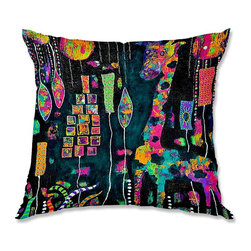 DiaNoche Designs - Pillow Woven Poplin - Michele Fauss George Was Simply to Fabulous to Fit In - Toss this decorative pillow on any bed, sofa or chair, and add personality to your chic and stylish decor. Lay your head against your new art and relax! Made of woven Poly-Poplin.  Includes a cushy supportive pillow insert, zipped inside. Dye Sublimation printing adheres the ink to the material for long life and durability. Double Sided Print, Machine Washable, Product may vary slightly from image.