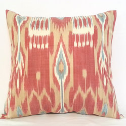 ikat pillow covers, ikat, ikat cushion, yellow ikat, blue ikat, red ikat, ikat