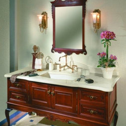 Zodiaq® Astral Pearl bathroom vanity. - Photo by Dupont