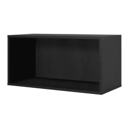 Foremost - Modular Large Open Cube Black - Store your books and display your pictures in this black open cube. Made of wood composite and finished in veneer, this cube adds a classic yet contemporary touch to your decor. Buy more than one to pile them on top of each other for shelving. Unlimited combination options so you can create exactly the system you need.