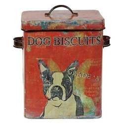 Tin Dog Biscuit Container -