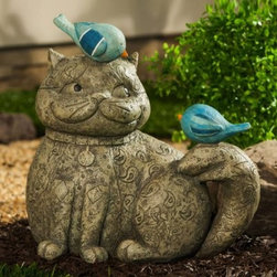 Fat Cats Cat Companions Garden Statue - Like peas in a pod, the Fat Cats Cat Companions Garden Statue are friends 'til the end. This unlikely trio is made to last from durable polystone and metal. So add a little charm to your garden and let the compliments roll in.