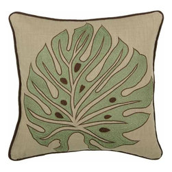 Rizzy Home - Green and Khaki Decorative Accent Pillows (Set of 2) - T03831 - Set of 2 Pillows.