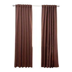 """Best Home Fashion - Solid Backtab Thermal Insulated Blackout Curtains - 1 Pair, Chocolate, 95"""" - Best Home Fashion introduces the new Blackout Curtain. It features innovative fabric construction. Compared to other curtains, our product is extremely SOFT and DRAPERY. The sophisticated designs allow you to decorate your windows with great style. NEVER compare our Blackout Curtains with those cheap ones that are stiff and look like a shower curtain. Blackout is perfect for : Late sleepers Shift workers Seniors Infants & parents Students Computer operators Care instruction : -Machine wash warm with like colors. -Use only non-chlorine bleach when needed. -Tumble dry low. -Warm iron as needed"""
