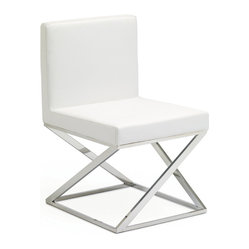 Toulon Dining Chair, Set of 2, White
