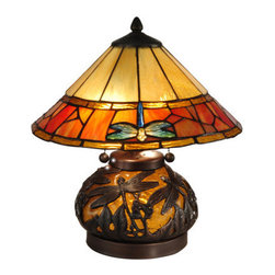 Dale Tiffany - Dale Tiffany TT13092 Genoa 3 Light Table Lamp - Features: