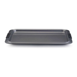 Anolon - Anolon Advanced 11 x 17 Inch Nonstick Cookie Sheet - The cookie pan is an essential piece to any bakers collection. This larger sized cookie sheet is coated with a durable nonstick surface providing optimum food release for easy cleaning. Bake your most creative goodies from ginger bread houses to biscotti. The options are endless. - Weight: 2.7 lbs.