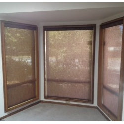 Roller Shades - Check out these roller shades on this bay window in Covington, WA.