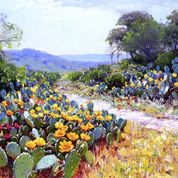 "Julian Onderdonk Cactus in Bloom - 18"" x 24"" Premium Archival Print - 18"" x 24"" Julian Onderdonk Cactus in Bloom premium archival print reproduced to meet museum quality standards. Our museum quality archival prints are produced using high-precision print technology for a more accurate reproduction printed on high quality, heavyweight matte presentation paper with fade-resistant, archival inks. Our progressive business model allows us to offer works of art to you at the best wholesale pricing, significantly less than art gallery prices, affordable to all. This line of artwork is produced with extra white border space (if you choose to have it framed, for your framer to work with to frame properly or utilize a larger mat and/or frame).  We present a comprehensive collection of exceptional art reproductions byJulian Onderdonk."