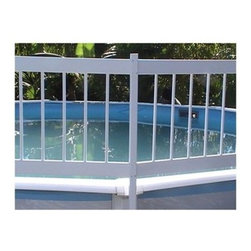GLI Above Ground Pool 2 Section Fence Add-On Kit - The GLI Above Ground Pool 2 Section Fence Add-On Kit helps improve your pool's safety and prevents an accidental drowning. This solid 24-inch fencing keeps unwanted intruders out of the pool and keeps toys and water games in. The rigid vinyl construction is maintenance-free, UV-protected, and can be mounted on any above-ground pool. Our mounting brackets are super-strong with rounded edges that easily attach to your pool's uprights. Installation is easy and the fencing can fit any pool. Add-on Kit C comes with 2 fence sections, fence posts, installation instructions, and necessary hardware.About SplashNet XpressSplashNet Xpress is dedicated to providing consumers with safe, high-quality pool products delivered in a fast and friendly manner. While it's adding new product lines all the time, SplashNet Xpress already handles pool maintenance items, toys and games, cleaning and maintenance devices, solar products, and aboveground pools.