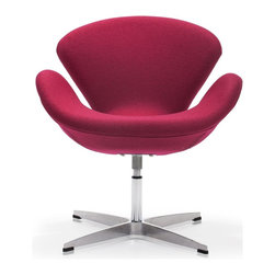 Zuo Modern - Zuo Modern Pori Modern Arm Chair X-903005 - The Pori Chair takes its inspiration from modern European design and mixes it with American details such as the soft wool-like texture of the fabric and the vibrant color offerings. The base is chrome with swivel.