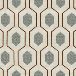 Kravet - Euclid Fabric - Euclid, a Greek mathematician and often called the 'father of geometry' inspired this geometric upholstery fabric design. The repeated, mesmerizing pattern comes in a variety of colors and would make your chair, couch, ottoman or pillow happy and happening!