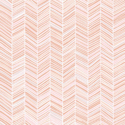 Herringbone Wallpaper, Pink - Herringbone prints continue to hold a soft spot in my heart, and I love the gradiated pink colors present here. How great would this look in a room? It would be almost as if the walls were covered in a pink grass cloth.