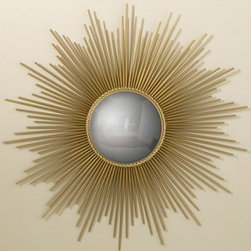 Sunburst Mirror – Gold | Pulp Home - Sunburst mirror with convex reflective surface adds a great look to any interior. FINISH: Gold
