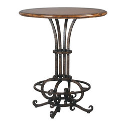 Ambella Home - New Ambella Home Bar Table Leather Symphony - Product Details