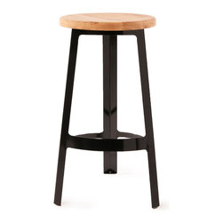 Abode Stool With Wood Seat Black I Love This Black