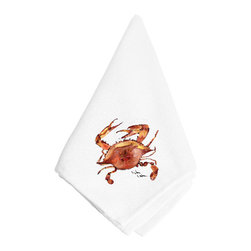 Caroline's Treasures - Crab Napkin 8321NAP - Dinner Napkin - 100% polyester - wash, dry and lay flat.  No ironing needed.  20 inch by 20 inch