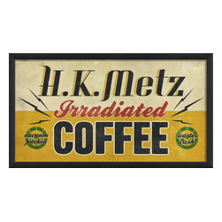 The Artwork Factory - 'H.K. Metz Irradiated Coffee' Print - All the buzz. Back in the day, coffee beans evidentially needed to be irradiated to reach the optimum caffeine boost. Today however, this fun, museum quality print will simply remind the designated coffee brewers in your kitchen or lunchroom to aim for high-octane energy.
