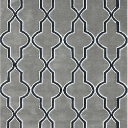 Nuloom - nuLOOM Modern Moroccan Trellis Lattice Grey Rug (7'6 x 9'6) - Add a touch of whimsy to your home with this geo border rug. The area rug is constructed from durable 100 percent polyester and features a modern border design that will give any room a splash of color and fun.