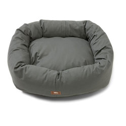 West Paw Design - Dog Bumper Bed, Slate, Extra Small - It's the bed your discriminating dog has been begging for. Comfy cushioning and built up on all sides for snuggly slumber, plus the durable twill fabric zips off for easy machine washing. Also available in Small to Extra Large sizes.