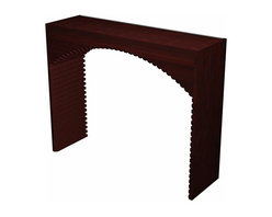 Wine Cellar Innovations - Designer Series Wine Rack - Archway - Add an eye catching focal point to your wine cellar by incorporating a Diamond Bin Archway. The Diamond Bin Archway consists of three separate components; an archway, a table top, and a half height diamond bin wooden wine rack._