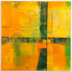 Oil on Canvas #2-2013 72inx72in - Spencer Rogers attended The Art Institute in Florence, Italy. His large format paintings demand attention on any wall.