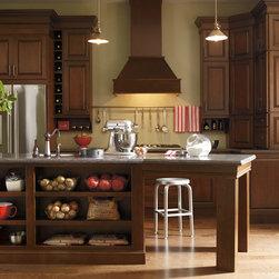 Dark Cherry Kitchen Cabinets - Schrock Cabinetry -
