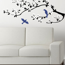 Lovely Birds on a Cherry Branch Decal
