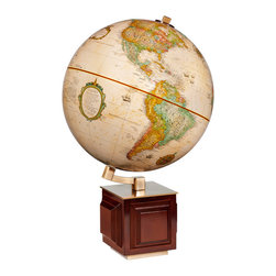"Replogle - Four Square Desktop World Globe - This 12"" desktop world globe is a part of Frank Lloyd Wright Collection� Globes."