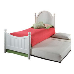 Hillsdale Furniture - Hillsdale Furniture Westfield Twin Bed with Trundle - Inspired by classic cottage styling, Hillsdale Furniture's Westfield youth bed features a traditional curved headboard and lovely sculpted feet. Finished in a cozy espresso, this bed is a refreshing and cheerful addition to your child's bedroom.