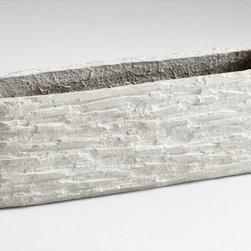 Cyan Design - Fossil Cliff Planter-05923 - Fossil cliff planter - sandstone