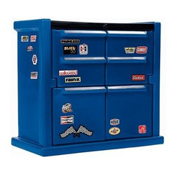 Step2 Tool Chest Dresser - Here's a fun one for a boy's room with a racecar bed.