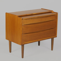 Alvar Aalto Vanity from Finland with Pullout Jewelry Box - Vintage 1950s Vanity from Finland by Alvar Aalto.