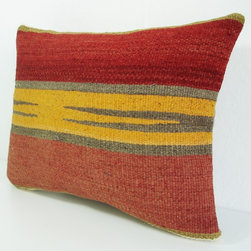 Hand Embroidered Turkish Antique Kilim Pillow Cover by sukan - Do you know someone who dreams of strolling the markets of Istanbul in hot pursuit of textiles? Until they get that chance, they'll be thrilled with this Kilim pillow on Etsy. There is a wide variety of beautiful pillows in Etsy seller sukan's store.