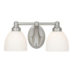Vaxcel - Stockholm Brushed Nickel 2 Light Vanity - Vaxcel ST-VLD002BN Stockholm Brushed Nickel 2 Light Vanity