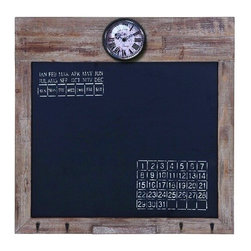 Benzara - Lisa Square Black Board with Clock and Calendar - Lisa square black board with clock and calendar. Being organized and orderly has never been this convenient, and has never looked so good.
