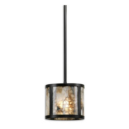 Uttermost - Uttermost 21952  Coslada 1 Light Marble Mini Pendant - Marble slabs accented with dark oil rubbed bronze metal. due to the nature of real marble each piece will vary in color tone.