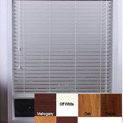 Arlo Blinds - Customized Real Wood  Window Blinds - Update your home decor with gorgeous, real-wood horizontal window blinds These wood slat blinds are 2 inches wide These shades are made from the finest grade kiln-dried basswood