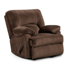 Chelsea Home Furniture - Chelsea Home Furniture Kira Chaise Rocker Recliner - 192800-CB - Shop for Recliners from Hayneedle.com! Whether it s a book TV program or a well-deserved nap the Chelsea Home Furniture Kira Chaise Rocker Recliner lets you enjoy it in plush style. This combo seat surrounds you in thick padding and soft poly upholstery. Its gentle rocking action relaxes or you can kick up your feet with its smooth reclining action. Choose from upholstery color options to match your home decor.About Chelsea Home FurnitureProviding home elegance in upholstery products such as recliners stationary upholstery leather and accent furniture including chairs chaises and benches is the most important part of Chelsea Home Furniture's operations. Bringing high quality classic and traditional designs that remain fresh for generations to customers' homes is no burden but a love for hospitality and home beauty. The majority of Chelsea Home Furniture's products are made in the USA while all are sought after throughout the industry and will remain a staple in home furnishings.